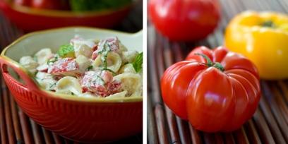 פסטה עם גבינה ועגבניות טריות